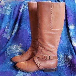 Nine West Leather Riding Boots sz 10
